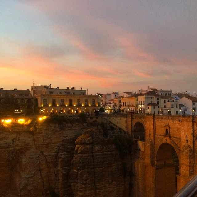 """Ronda sunset"" stock image"