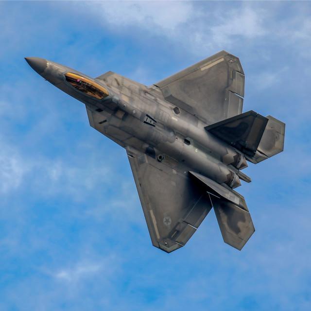 """F22 Raptor RIAT"" stock image"