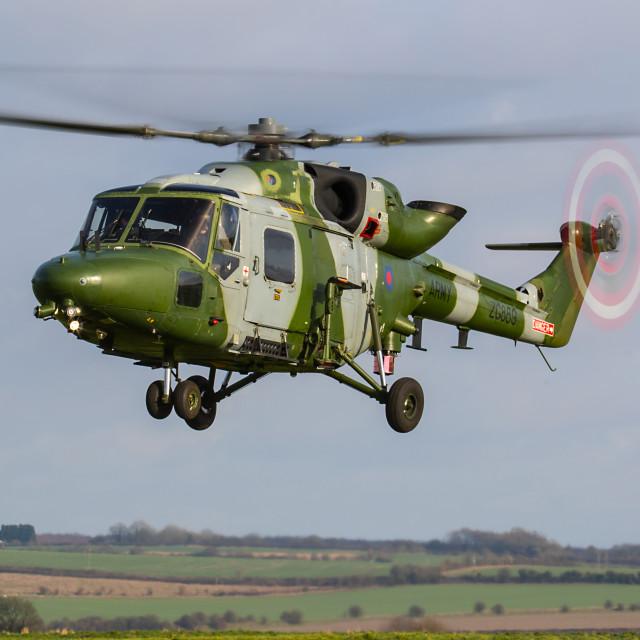 """Lynx Mk9 training flight"" stock image"