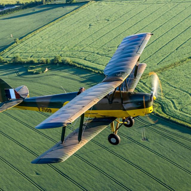 """""""Tiger Moth Air to Air"""" stock image"""