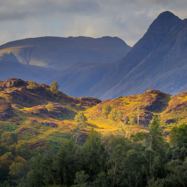 """Light on the Fells"" stock image"