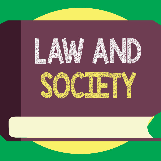 """""""Handwriting text writing Law And Society. Concept meaning Address the mutual..."""" stock image"""