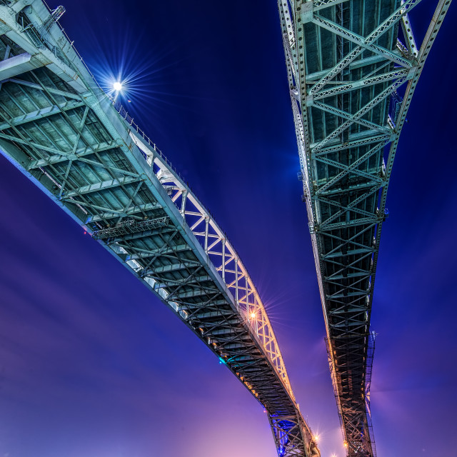 """Blue Water Bridge -2"" stock image"