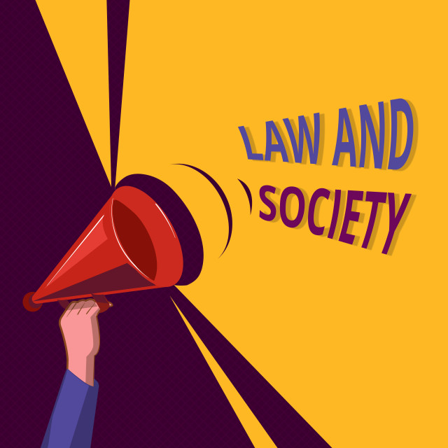 """""""Conceptual hand writing showing Law And Society. Business photo showcasing..."""" stock image"""