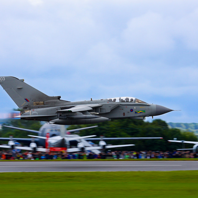 """Tornado GR4 low at RIAT"" stock image"