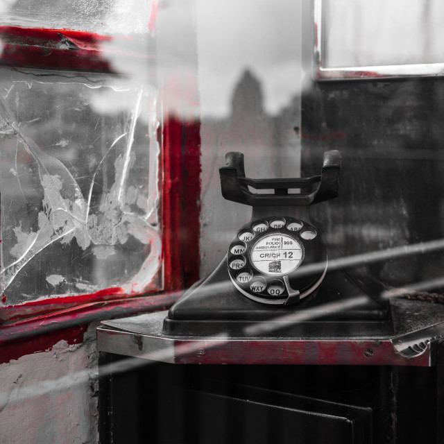 """Old phone box"" stock image"