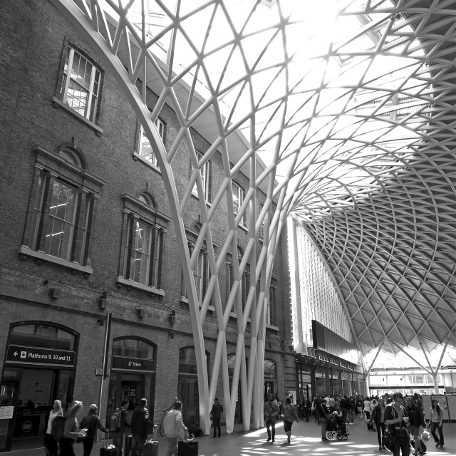 """Kings Cross Station Concourse"" stock image"