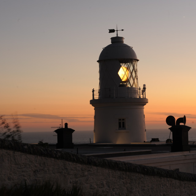 """""""Pendeen Watch at Twilight"""" stock image"""