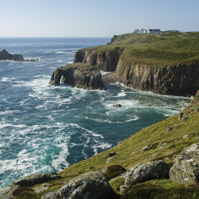 """Land's End from Pordenack Point"" stock image"