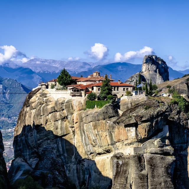 """Holy Trinity Monastery one beautiful day"" stock image"