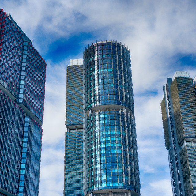 """""""HDR The Three Towers"""" stock image"""