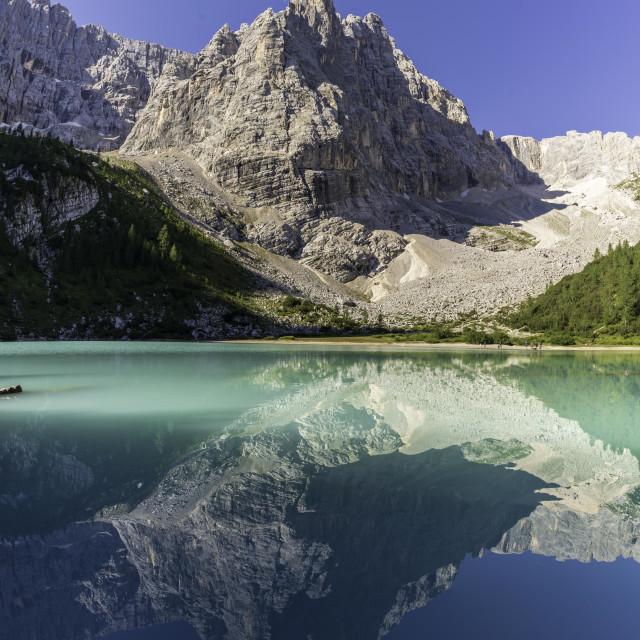 """""""Lago di Sorapis - Dolomite"""" stock image"""