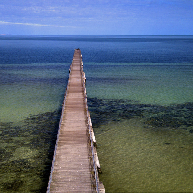 """Haslam Jetty: Eyre Peninsula, South Australia"" stock image"
