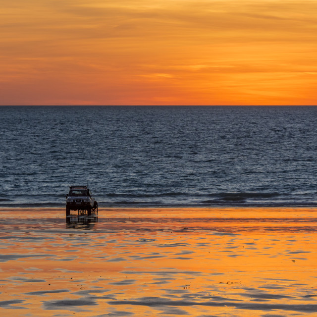 """Cable Beach at sunset, Broome"" stock image"