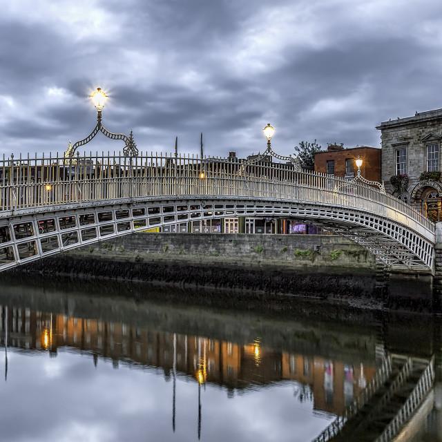"""""""Ha'Penny Bridge Dublin"""" stock image"""