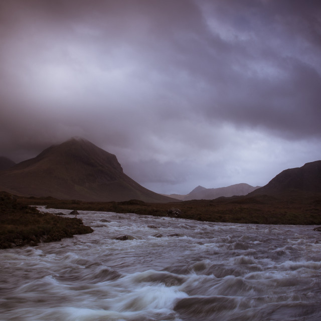 """SLigachan Clouds"" stock image"