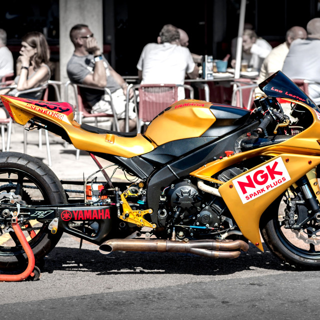 """Cafe racer"" stock image"