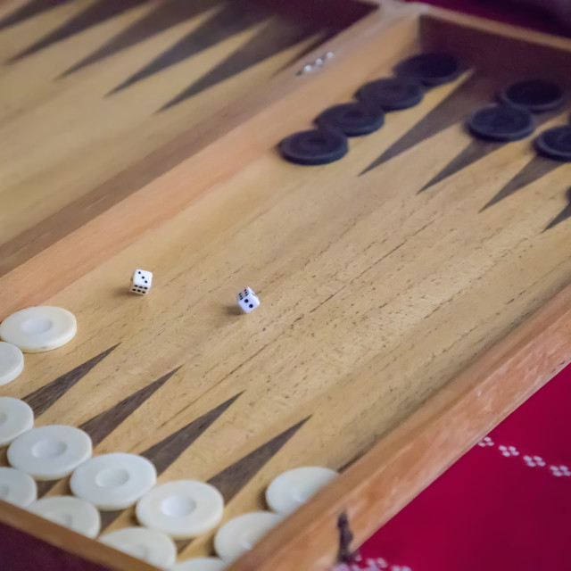 """playing backgammon"" stock image"