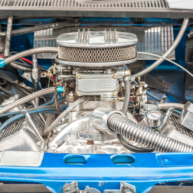 """vehicle engine bay close-up"" stock image"