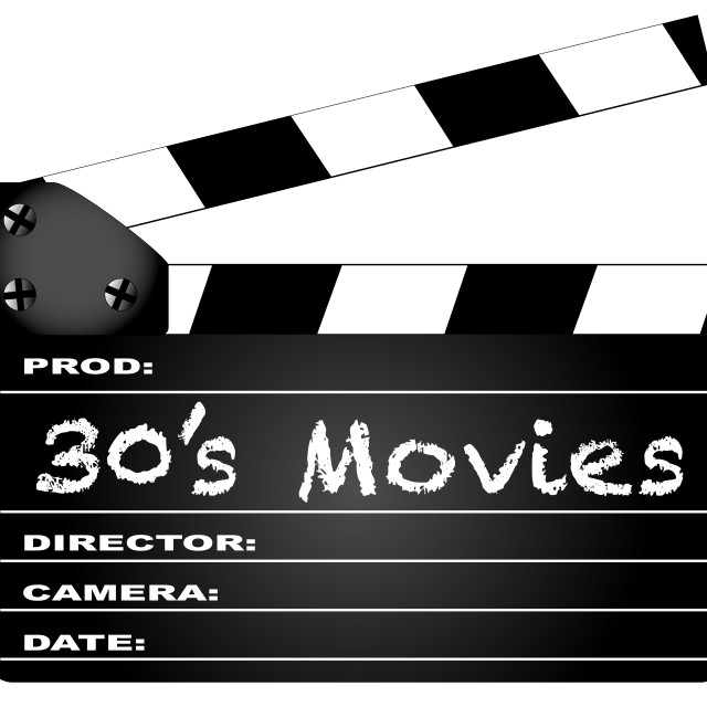"""""""30's Movies Clapperboard"""" stock image"""