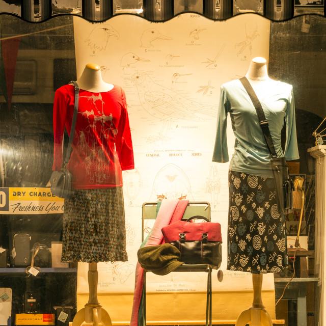 """Dress shop window display"" stock image"