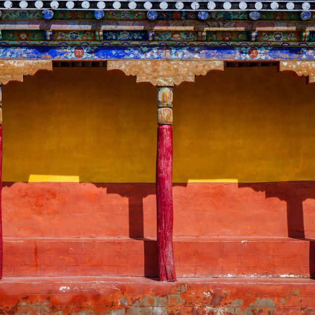 """Tibetan Buddhism Architecture"" stock image"
