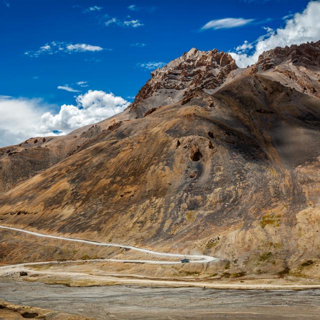 """""""Manali-Leh road in Himalayas"""" stock image"""