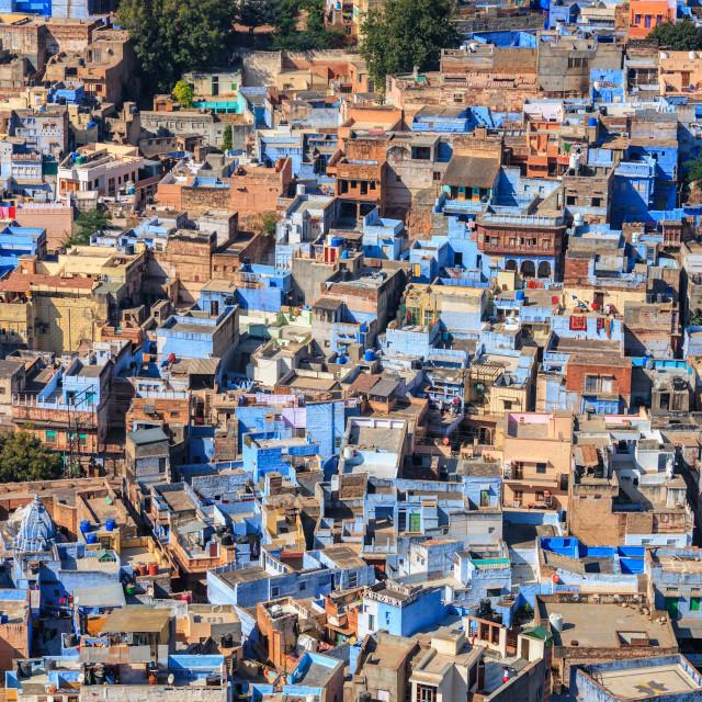 """Jodhpur the Blue city, Rajasthan, India"" stock image"
