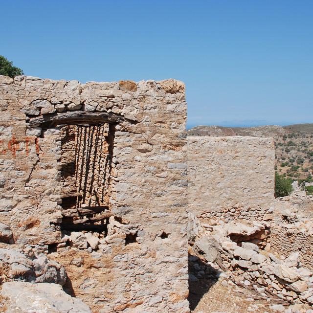 """Abandoned village on Tilos"" stock image"