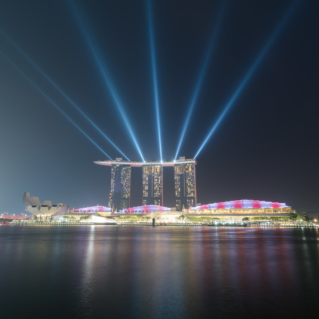 """Qualifying Night MBS spot lights"" stock image"