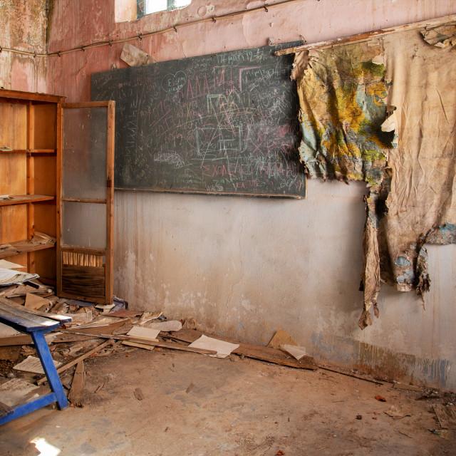 """Abandoned School Class"" stock image"