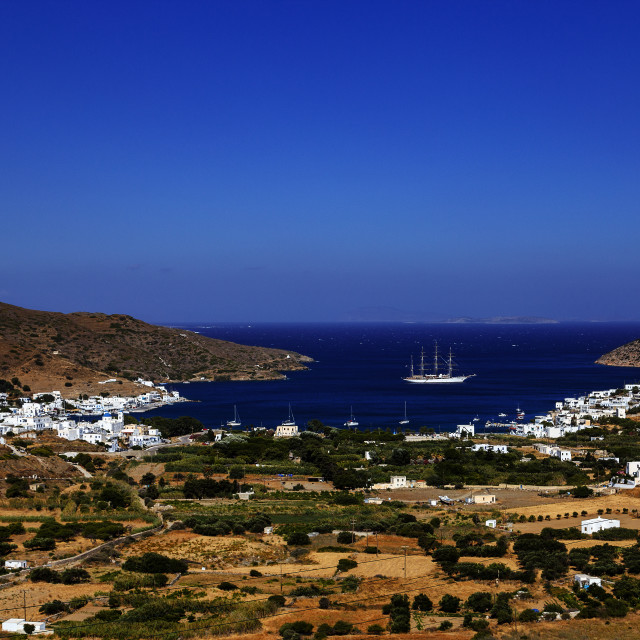 """""""Katapola Port - Amorgos Island"""" stock image"""