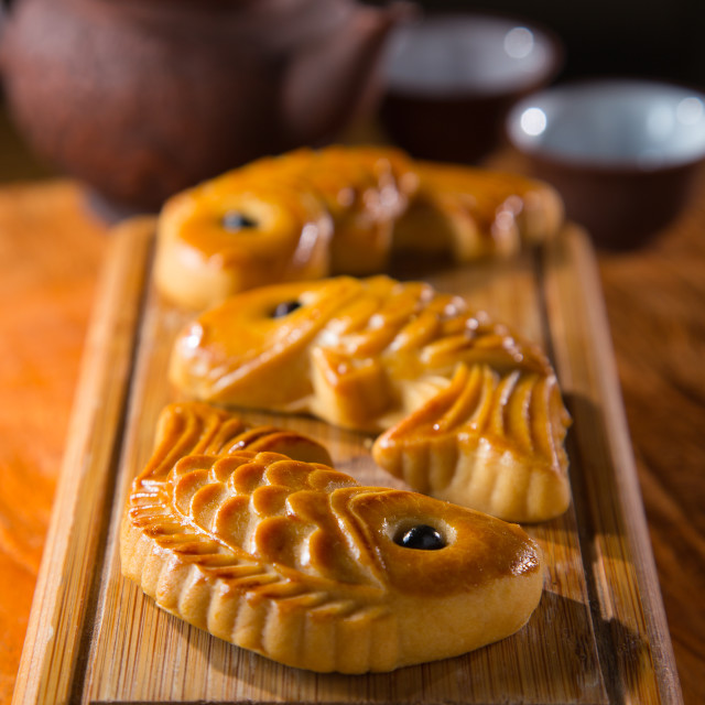 """chinese mooncake biscuit"" stock image"