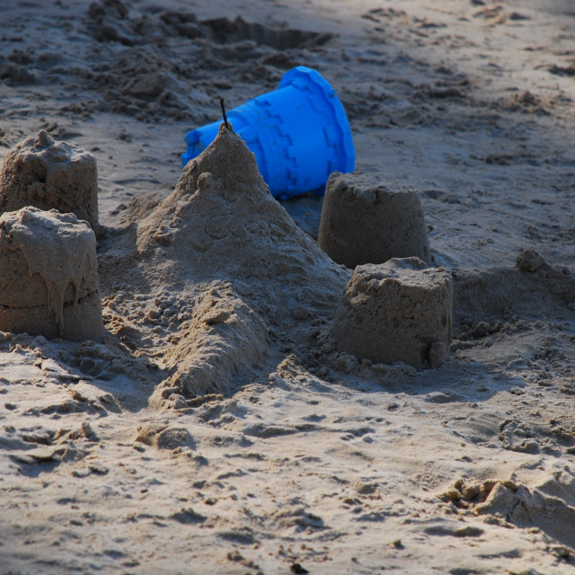 """Sand Castle"" stock image"