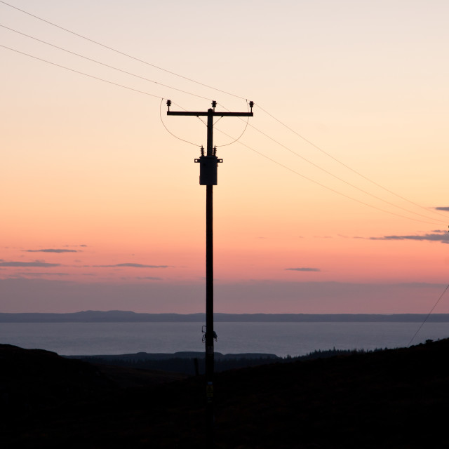 """""""Sunset Over Coll"""" stock image"""