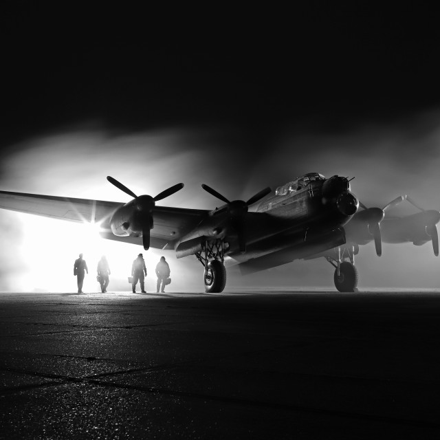 """East Kirkby Night Shoot"" stock image"