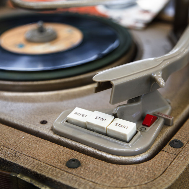 """""""Old Turntable"""" stock image"""
