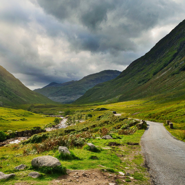 """James Bond location Glen Etive"" stock image"