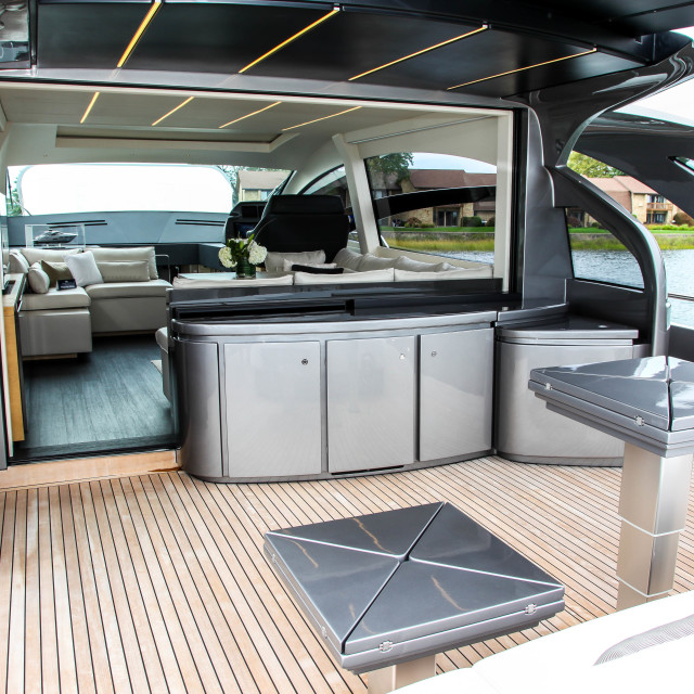 """""""Pershing 70 from Ferretti Group view in Norwalk Boat Show 2017"""" stock image"""