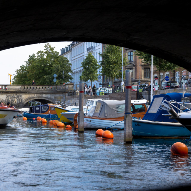"""""""On the canal in Copenhagen"""" stock image"""