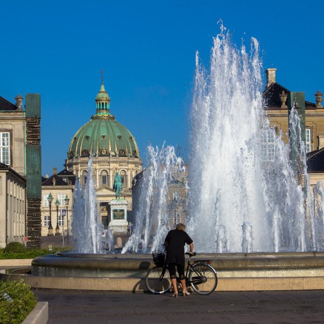 """""""Amalienborg fountain"""" stock image"""