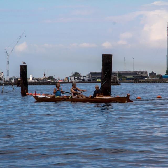 """""""Rowing in Copenhagen"""" stock image"""