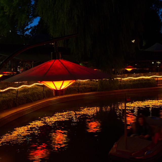 """""""Boat ride in Tivoli"""" stock image"""