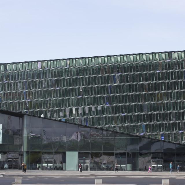 """""""Harpa Concert Hall in Reykjavik"""" stock image"""