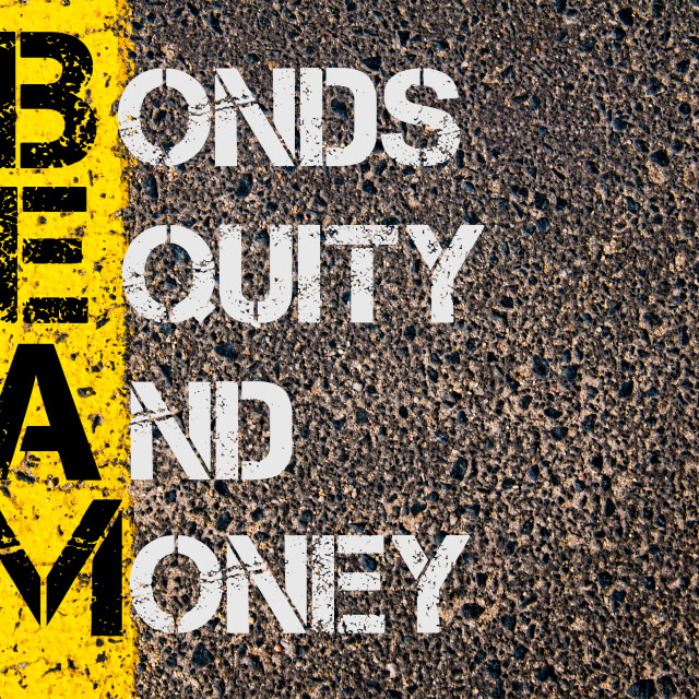 """""""Business Acronym BEAM as Bonds Equity and Money"""" stock image"""