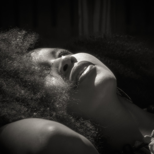 """""""Sleeping beauty in black and white"""" stock image"""