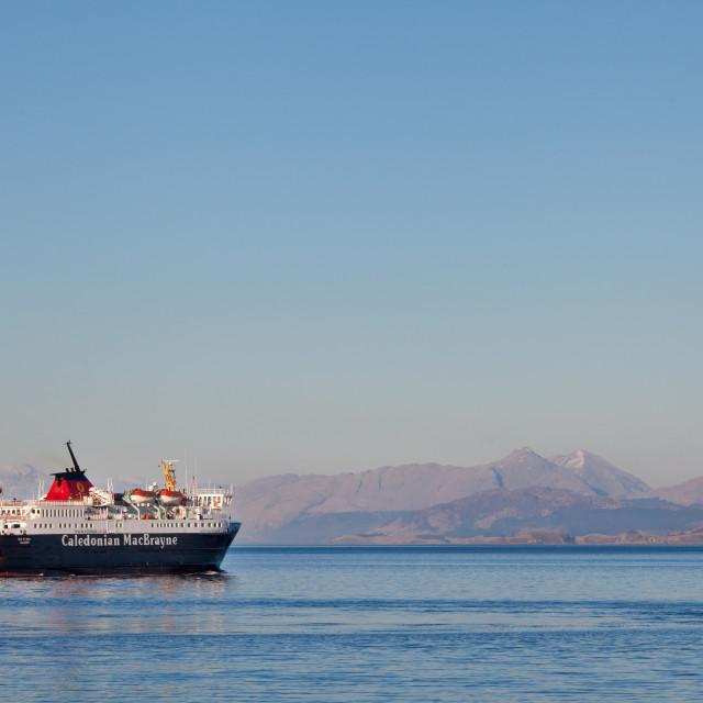 """Ferry Leaving Craignure"" stock image"