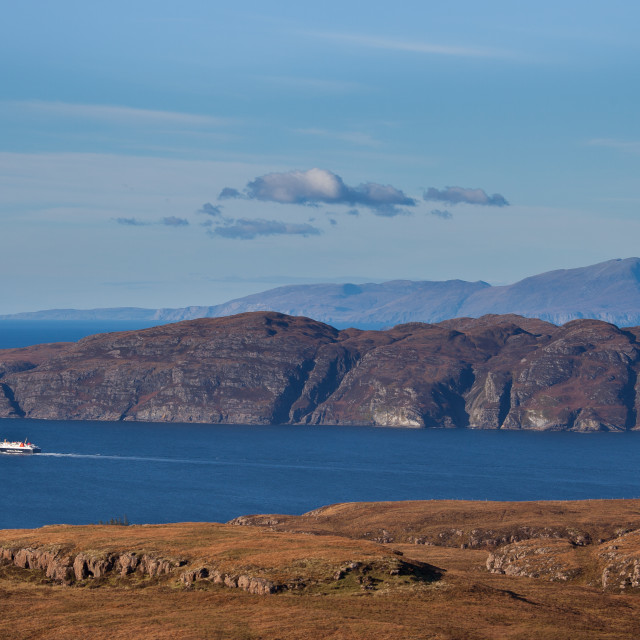 """""""Ferry in The Sound of Mull"""" stock image"""
