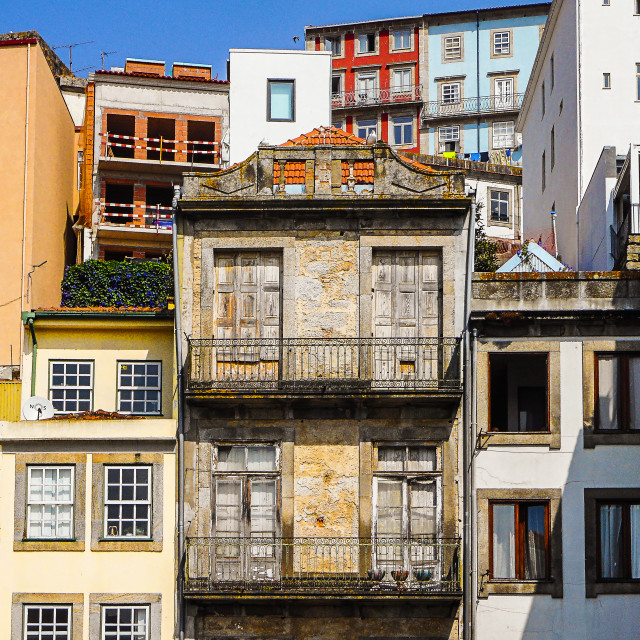 """Colorful Porto houses"" stock image"