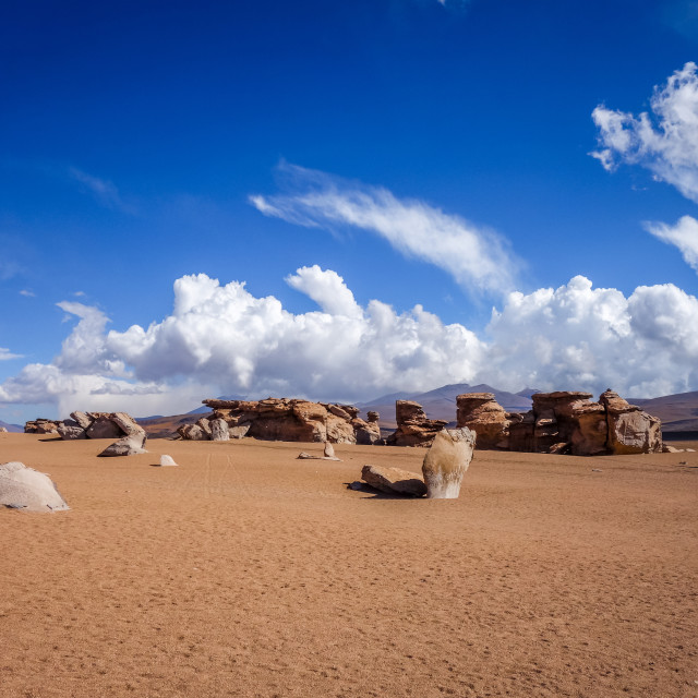 """""""Siloli desert in sud Lipez reserva, Bolivia"""" stock image"""